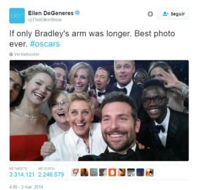 Ellen Degeneres Selfie Oscar